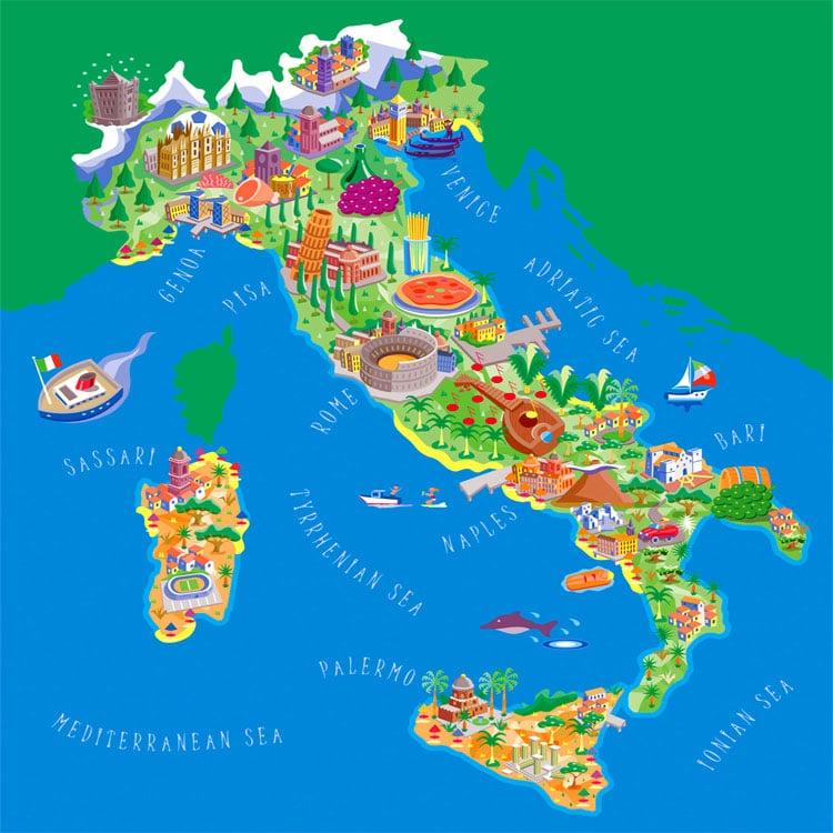 خاطرات یادگیری زبان ایتالیایی